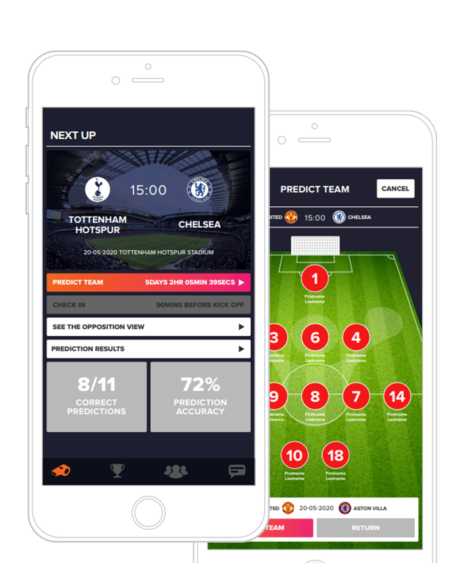 The FanHub App | LineUp Predictor and Check In At Games